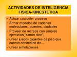 actividades de inteligencia fisica kinestetica