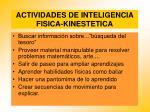 actividades de inteligencia fisica kinestetica98