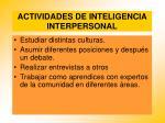actividades de inteligencia interpersonal80