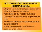 actividades de inteligencia intrapersonal76