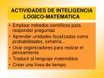 actividades de inteligencia logico matematica88