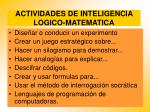 actividades de inteligencia logico matematica89
