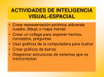 actividades de inteligencia visual espacial