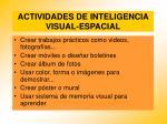 actividades de inteligencia visual espacial94