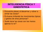 inteligencia f sica y kinestetica68