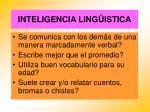 inteligencia ling istica