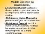 modelo cognitivo de gardner cont