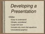 developing a presentation11