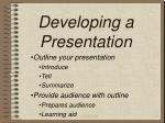 developing a presentation9