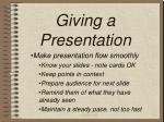 giving a presentation14