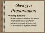 giving a presentation17