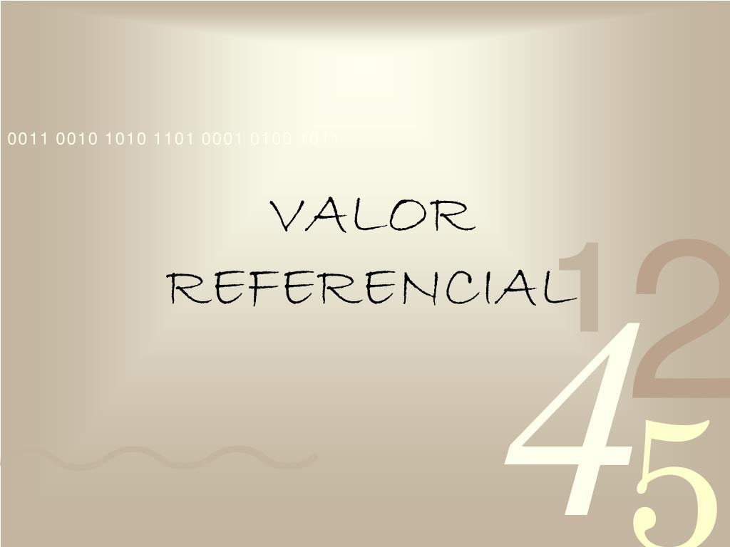 valor referencial l.