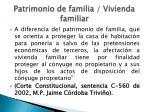 patrimonio de familia vivienda familiar