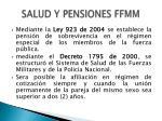 salud y pensiones ffmm