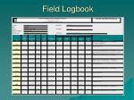field logbook