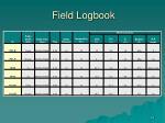 field logbook56