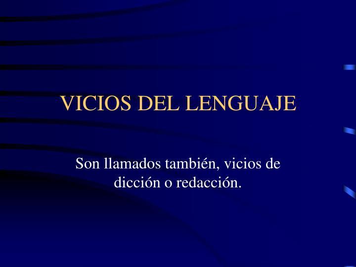 vicios del lenguaje n.