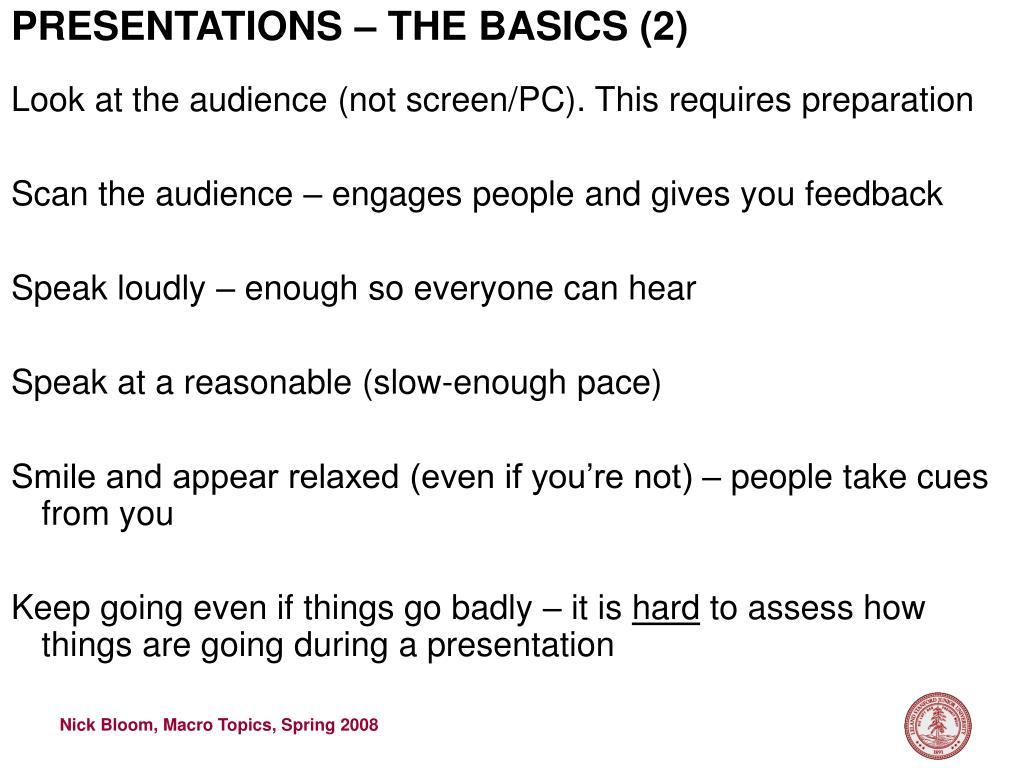 PRESENTATIONS – THE BASICS (2)
