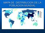 mapa de distribucion de la poblacion mundial