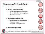 non verbal visual do s