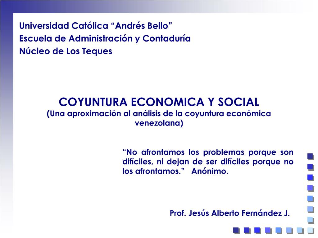 coyuntura economica y social una aproximaci n al an lisis de la coyuntura econ mica venezolana l.