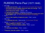rubens pierre paul 1577 1640