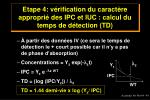 etape 4 v rification du caract re appropri des ipc et iuc calcul du temps de d tection td