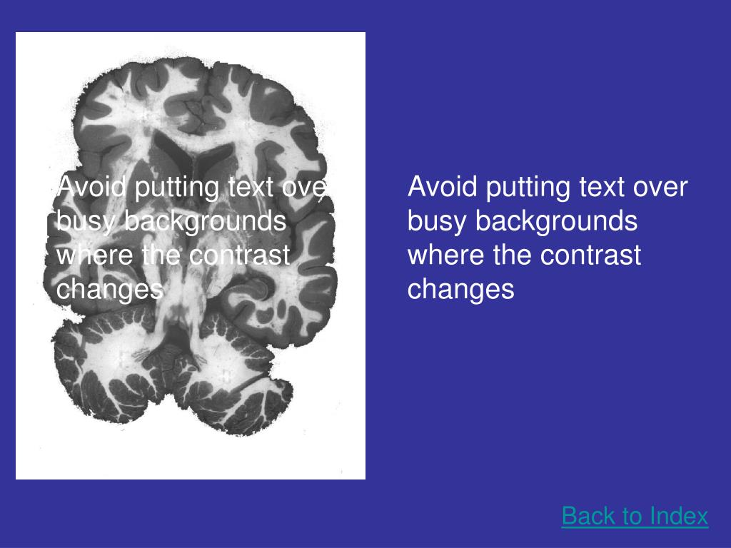 Avoid putting text over