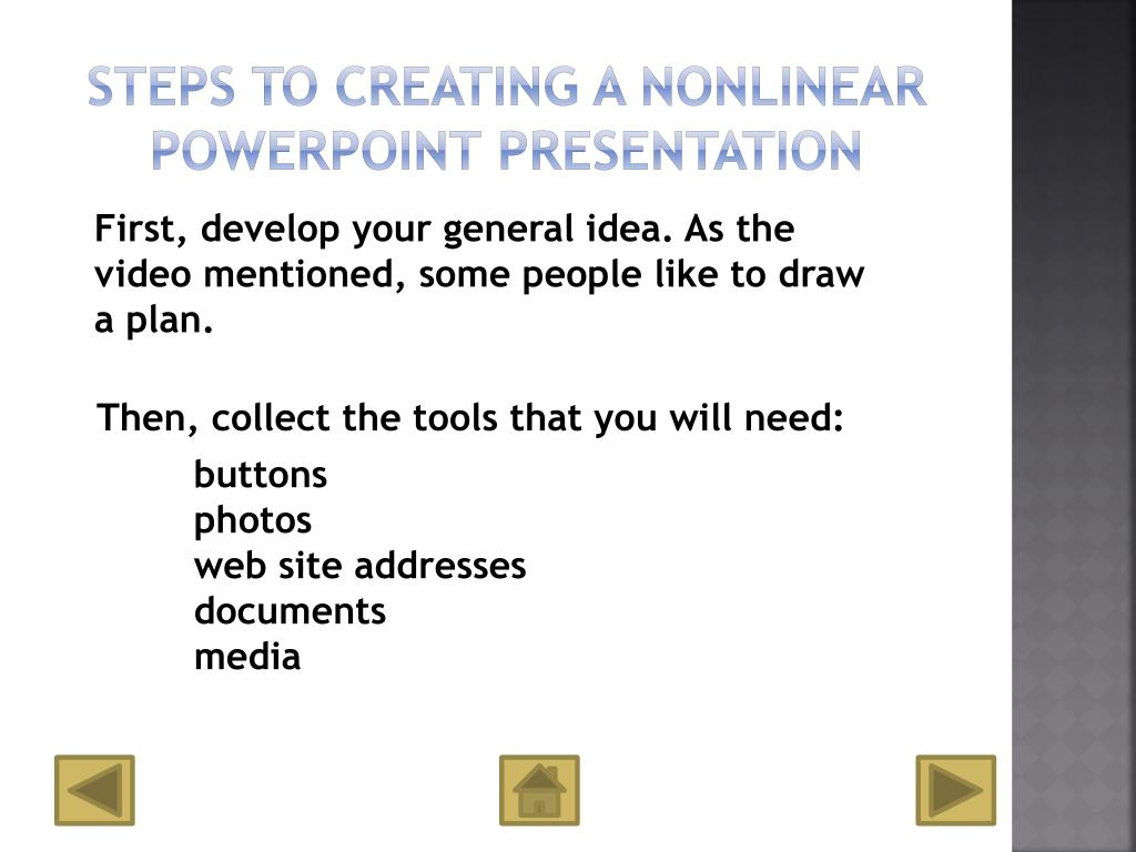 Steps to Creating a Nonlinear PowerPoint Presentation