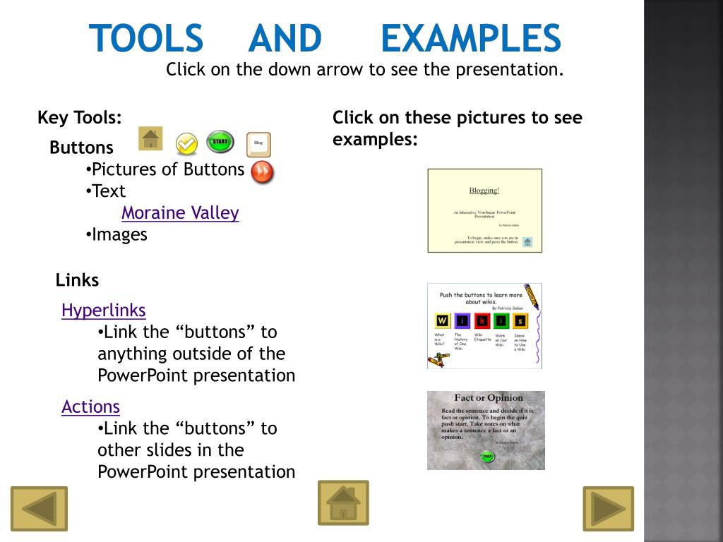 Tools    and     Examples