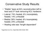 conservative study results