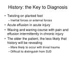 history the key to diagnosis