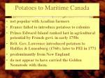 potatoes to maritime canada