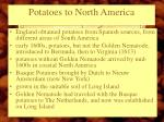 potatoes to north america