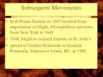 subsequent movements