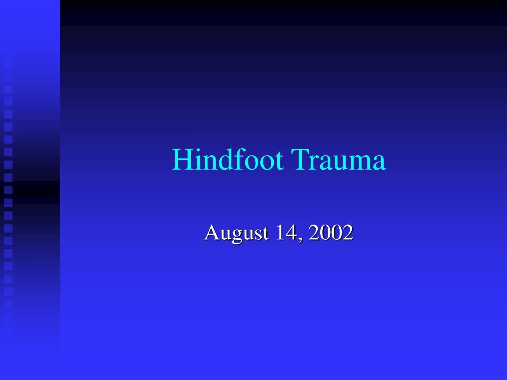 hindfoot trauma l.