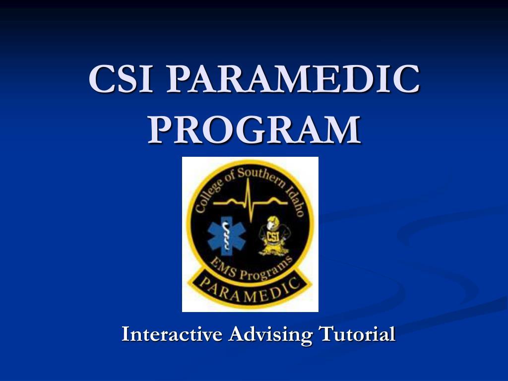 csi paramedic program l.