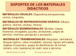 soportes de los materiales did cticos