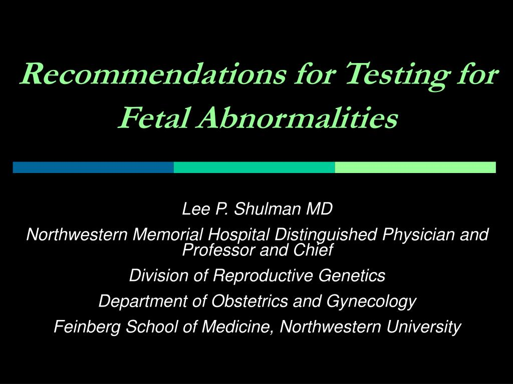 recommendations for testing for fetal abnormalities l.