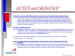 lctcs and skillsusa