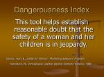 dangerousness index