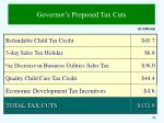 governor s proposed tax cuts