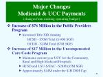 major changes medicaid ucc payments changes from existing operating budget