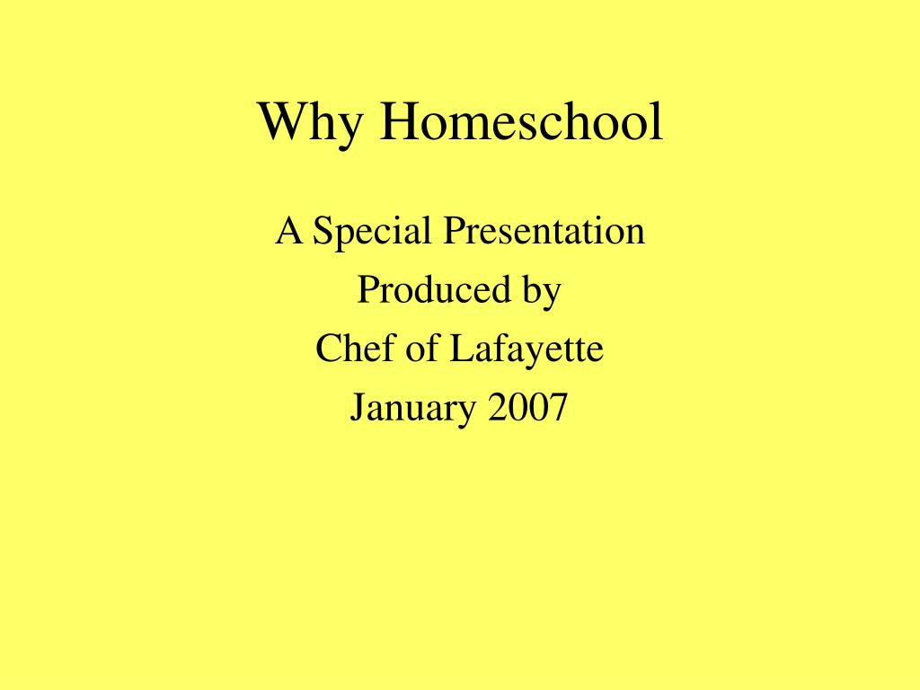 why homeschool l.