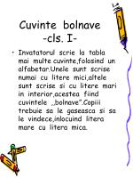 cuvinte bolnave cls i