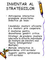 inventar al strategiilor