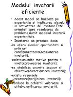 modelul invatarii eficiente