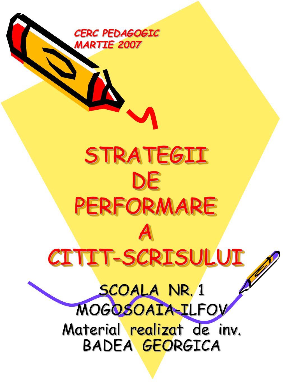 strategii de performare a citit scrisului l.