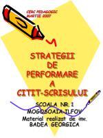 strategii de performare a citit scrisului