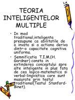teoria inteligentelor multiple